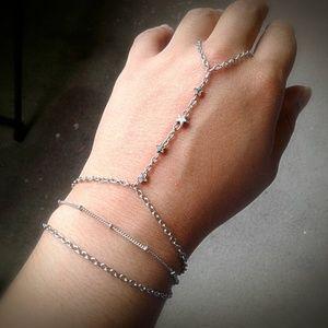 Handmade - ArtisanJewelryGifts Jewelry - Stars & Satellites Slave Bracelet Stars Hand Chain